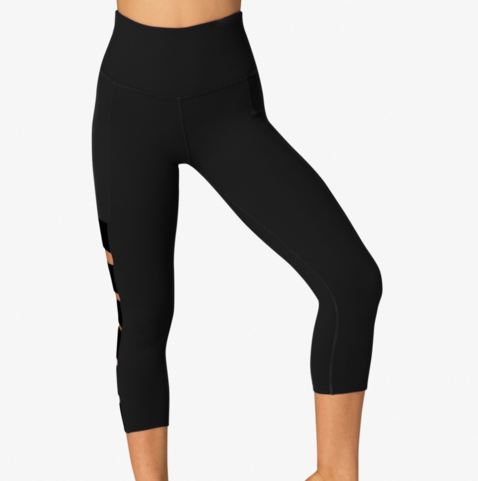 SP3217 Wide Band Stacked Capri Legging - T. Georgiano's