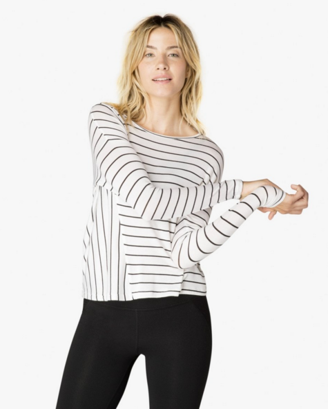 Beyond Yoga Draw The Line Pullover