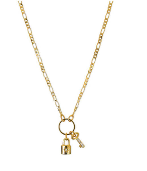 Lock and Key Necklace - T. Georgiano's