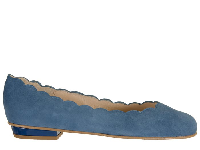 Scalloped Ballet Flat - T. Georgiano's