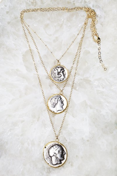 Multi Fortuna Coin Necklace - T. Georgiano's