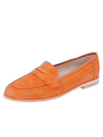JON JOSEF Audrey Orange Penny Loafer - T. Georgiano's