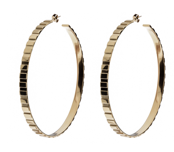 Rectangle Step Pattern Hoops - T. Georgiano's