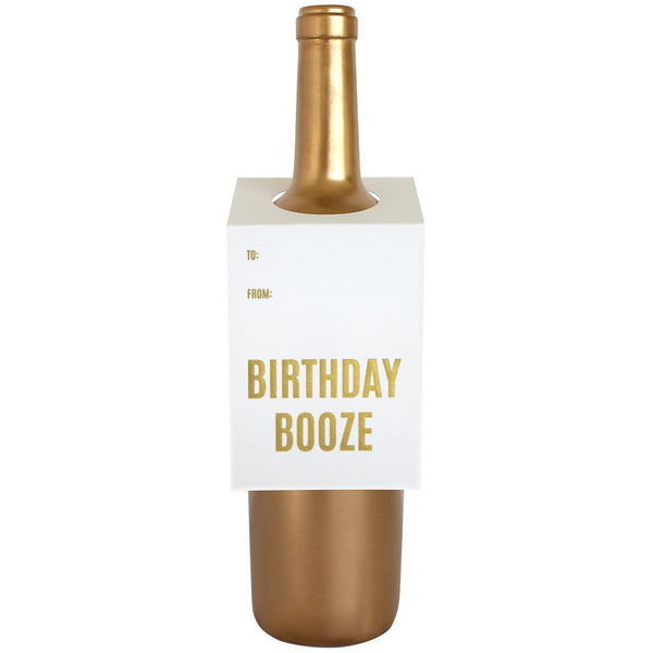 Birthday Booze Wine + Spirit Tag