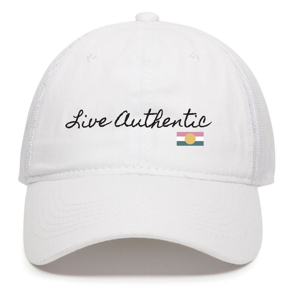 Live Authentic Trucker Hats - T. Georgiano's