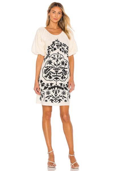 Fiona Embroidered Mini Dress - T. Georgiano's