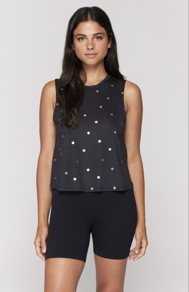 Stars Active Crop Tank - T. Georgiano's