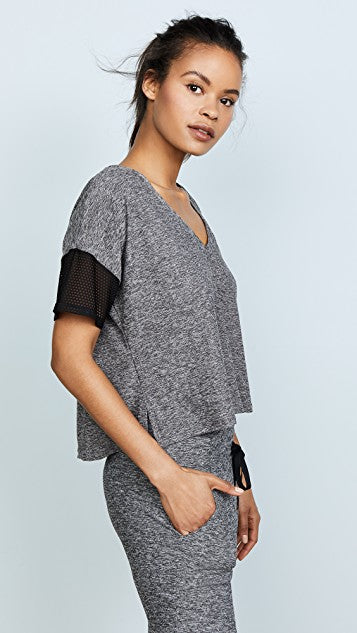 Beyond Yoga Lightweight V-Neck Cropped Tee
