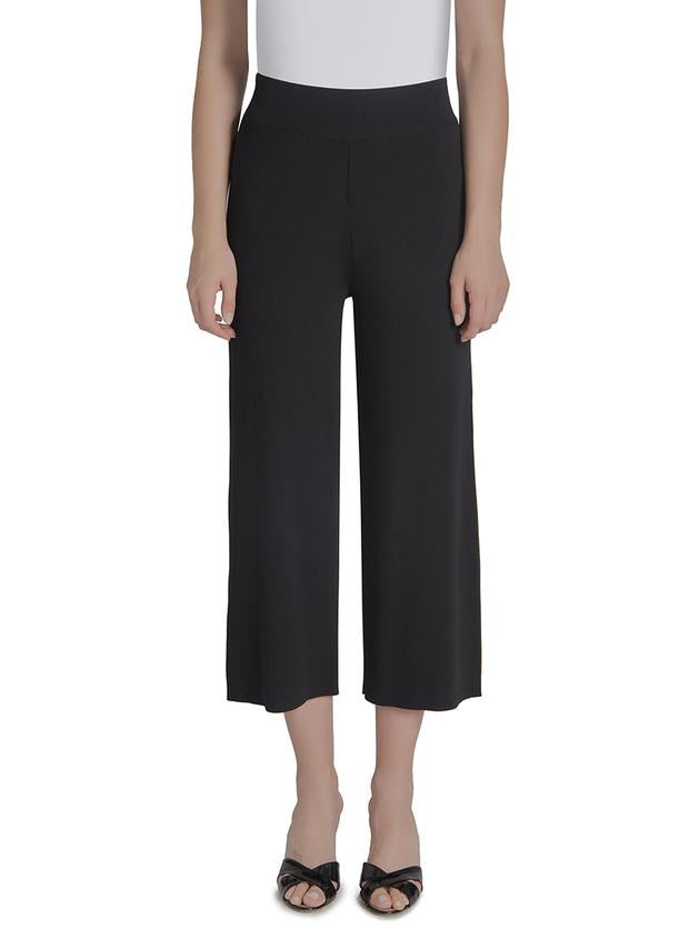 Lysse Knit Crop Wide Leg Pant - T. Georgiano's