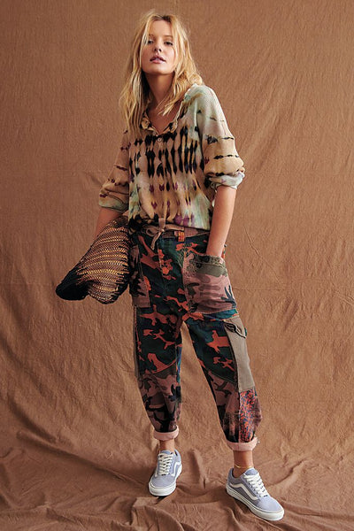 Zion Printed Harem Pants - T. Georgiano's