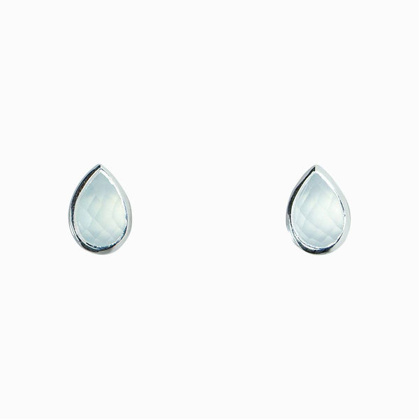 Teardrop Stone Stud Earrings - T. Georgiano's