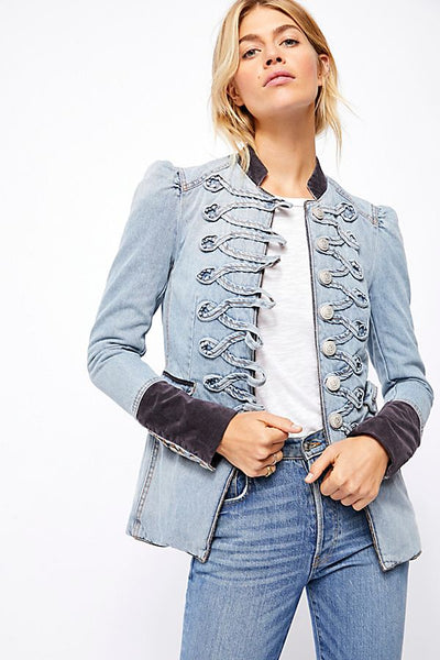 Denim Seamed and Structured Jacket