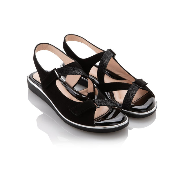 BeautiFeel Robin Black Leo Mat Sandal - T. Georgiano's