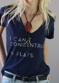 Signorelli 'I Can't Concentrate....In Flats' Tee