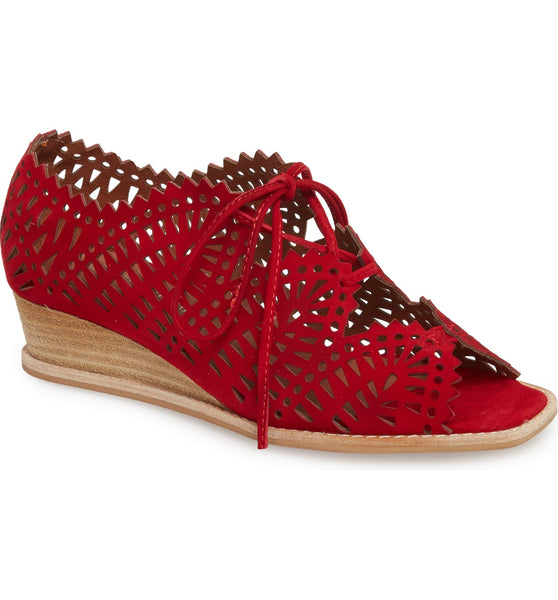 Espejo Lace Up Wedge - T. Georgiano's