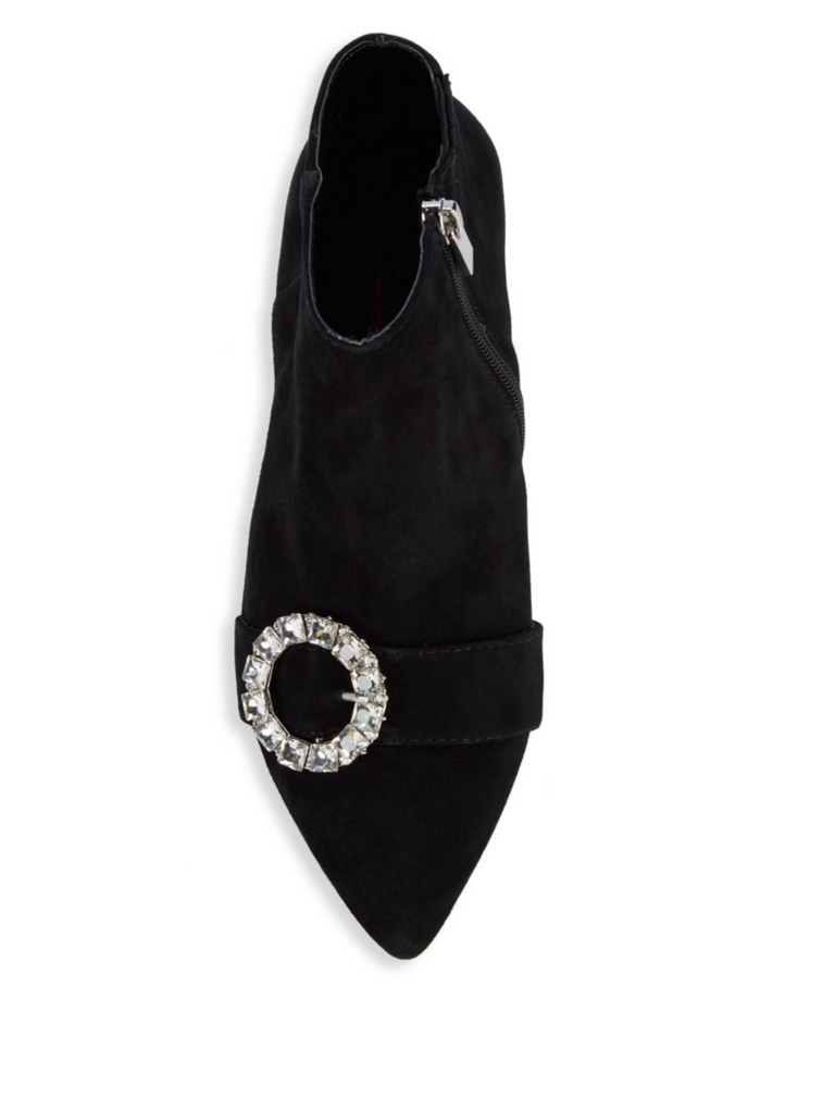 Adora Crystal Buckle Ankle Boots - T. Georgiano's