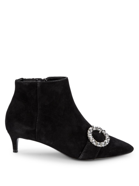 Adora Crystal Buckle Ankle Boots