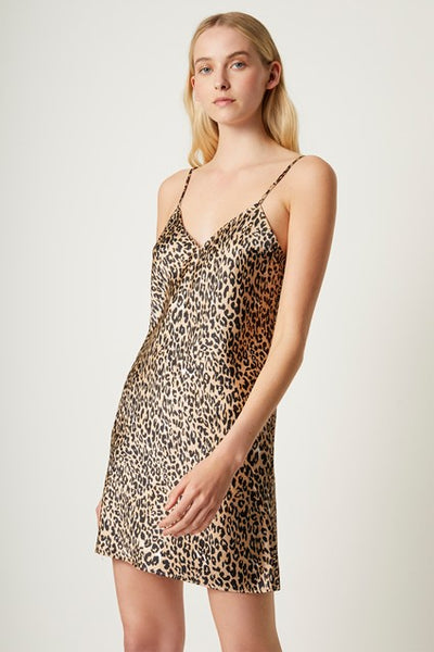 Leopard Strappy Slip Dress - T. Georgiano's