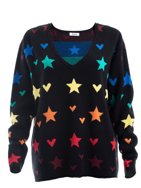 Hearts and Stars Pullover
