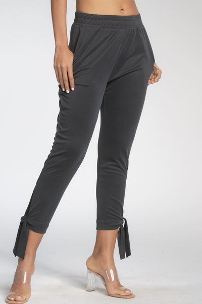 PQ2444 High Waist Pant w/ Tie Bottom
