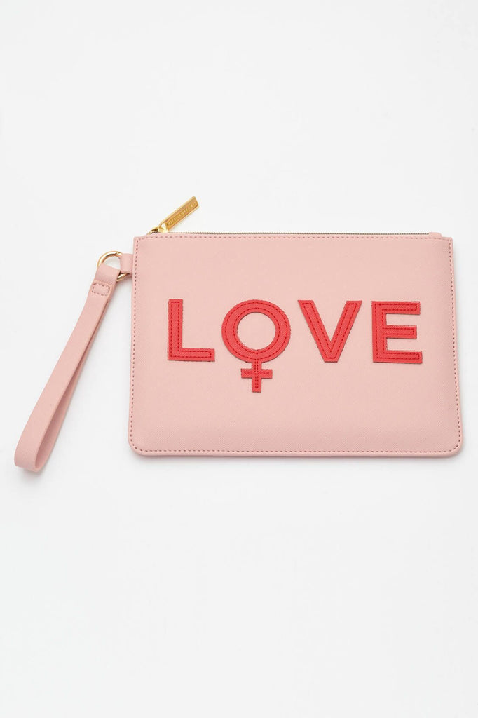 EBP4111 BLUSH LOVE APPLIQUE CLUTCH - T. Georgiano's
