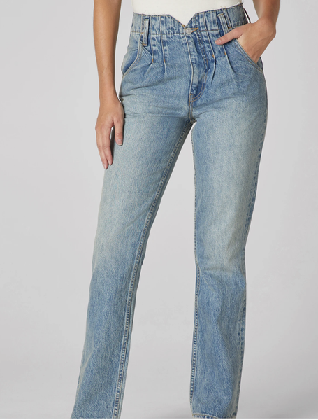 Hudson Pleated Denim Jean - T. Georgiano's