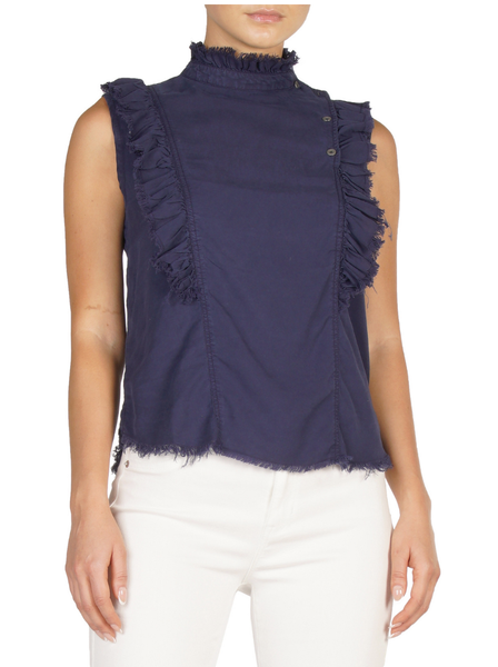 Sleeveless Top w/ Ruffle - T. Georgiano's
