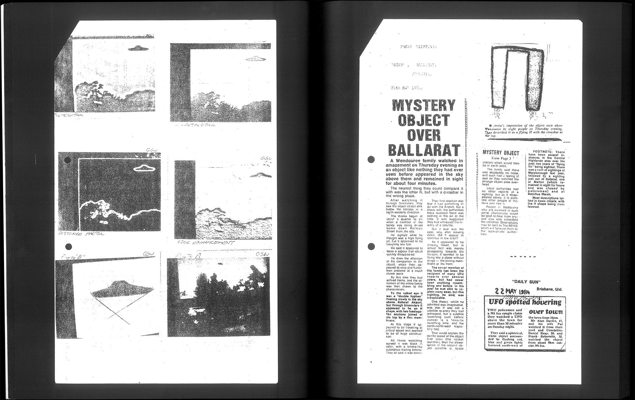 THE AUSTRALIAN UFO MYSTERY  R B  Briers & Martin Bell