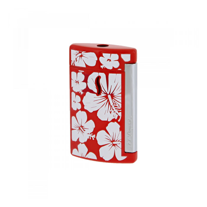 St Dupont Minijet Hawaii Lighter Red