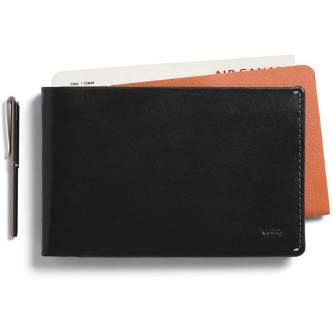 Bellroy Travel Wallet Black- Premium Leather Wallet with RFID