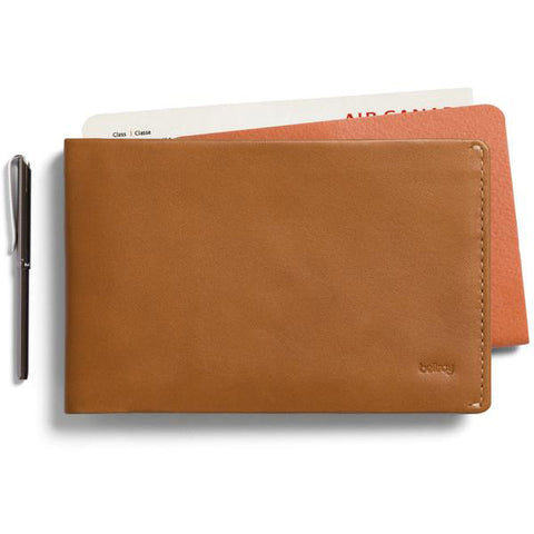 Bellroy Travel Wallet Caramel - Premium Leather Wallet with RFID
