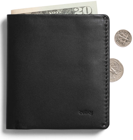 Bellroy Note Sleeve Black - Premium Leather Wallet with RFID