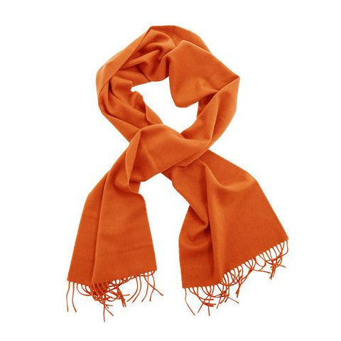 100% English Pure Cashmere Scarf Orange