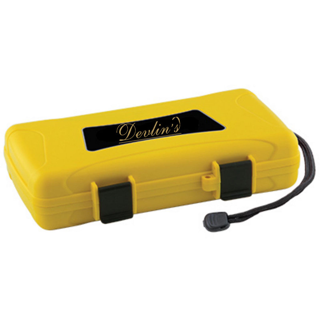 Devlin's 5 Cigar Travel Humidor Yellow