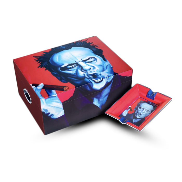 Jack Nicholson 500 stick deluxe humidor and ashtray by Christian Develter