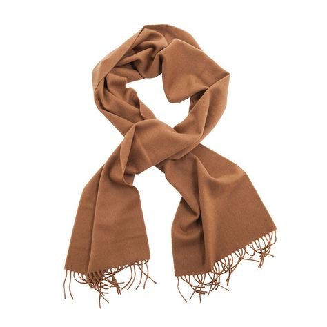 100% English Pure Cashmere Scarf Caramel