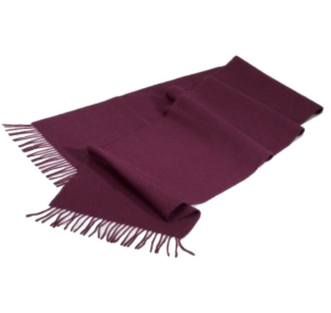 100% English Pure Cashmere Scarf Plum