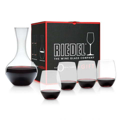 Riedel O Cabernet/Merlot Gift Pack 4 Glasses plus Decanter