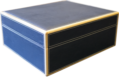 Blue Leather 50 Stick Humidor