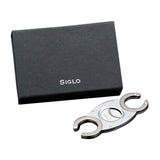 Siglo CC Cutter - Silver with Gunmetal Handle