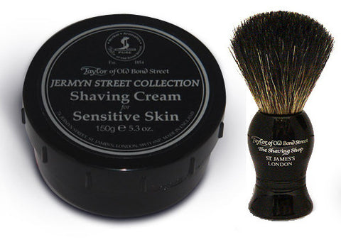 Badger Hair Brush and Jermyn St Soap Gift Set