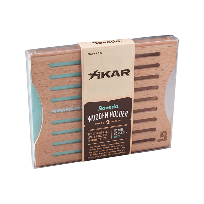 Xikar Wood Holder - 2 Packets, Side-By-Side