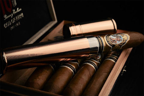 Prometheus Pocket Travel Cigar Tubes Rose Gold