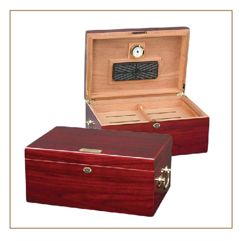 Tuscany 100 cigar High Gloss Cherry Humidor