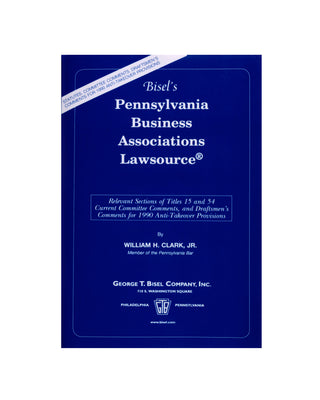 Pennsylvania  Business Associations Lawsource® (includes book + digital download)