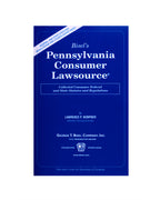 Pennsylvania Consumer Lawsource® (includes book + digital download)