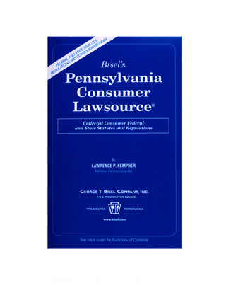 Z-Password Protected Digital Download - Pennsylvania Consumer Lawsource®
