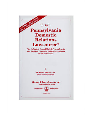 Pennsylvania Domestic Relations Lawsource® (includes book + digital download)