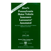 PA Motor Vehicle Insurance Lawsource® Annotated (includes book + digital download)