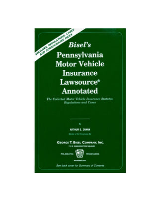 Z-Password Protected Digital Download - PA Motor Vehicle Insurance Lawsource® Annotated